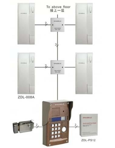 Zhudele 327r System 1 Outdoor Panel With 10 Handsets Audio Door Phone Intercom System For 10 Apartments Buy Now Door Intercom