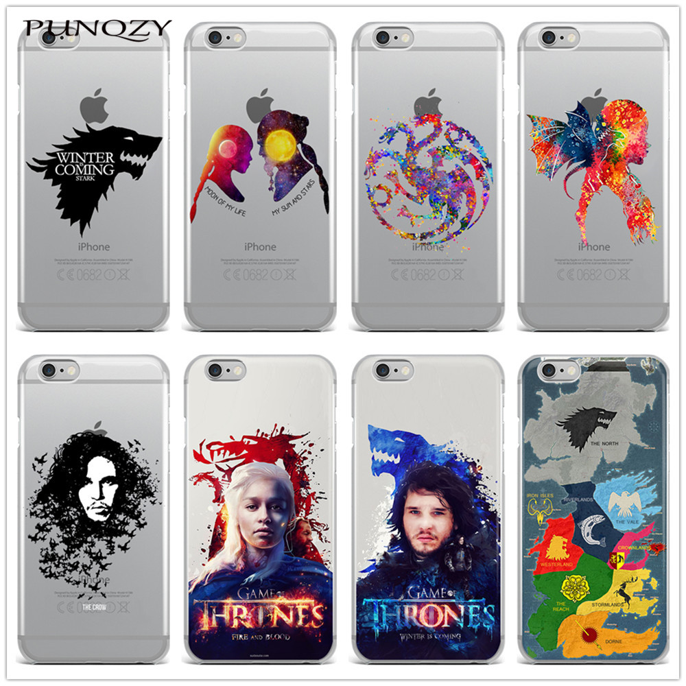 new products f01f8 9e6a0 Game of Thrones print Transparent Silicone Phone Back Cover Case For iPhone  7 7 Plus 6 6S 6 Plus 6s Plus 5 5S SE 4 5C