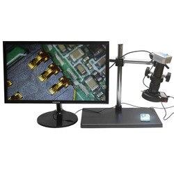 20MP 1080 P 60FPS kamery mikroskopu przemysłowego HDMI wyjście USB 10X-300X C mocowanie obiektywu duży obrotowy stół warsztatowy telefon komórkowy do naprawy