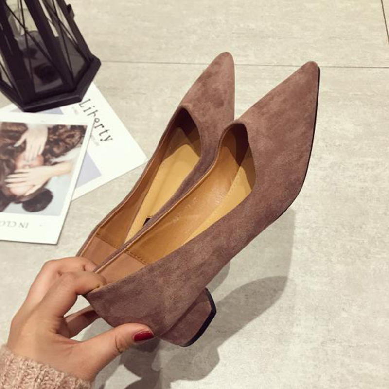 Image 4 - 2019 Spring Women Shoes Pointe Office Ladies Low Heels Women Pumps Elegant Woman High Heels A738-in Women's Pumps from Shoes