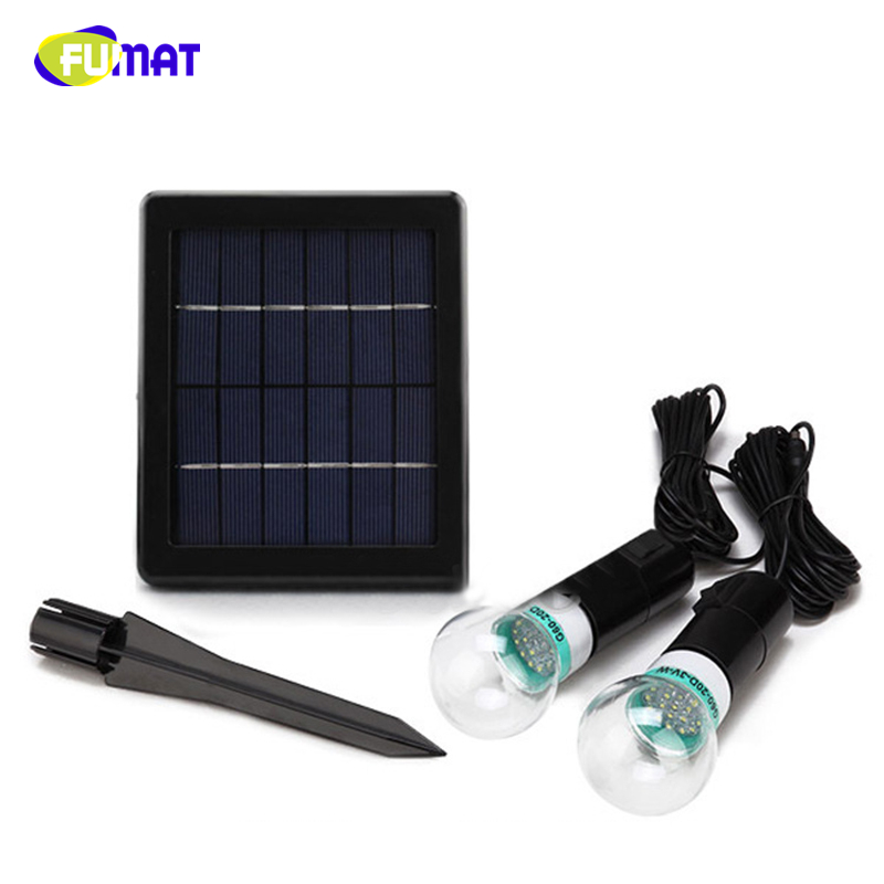 FUMAT LED Solar Lights Waterproof Solar Powered LED Lamps USB Charger Home System Garden Path Outdoor Hiking Tent Camping Lights
