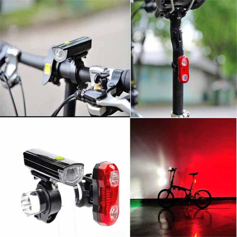 1Set Bicycle light Warning Lights Bicycle Headlights Bike Light Taillights Mountain Riding Bicycle Accessories Led Lights
