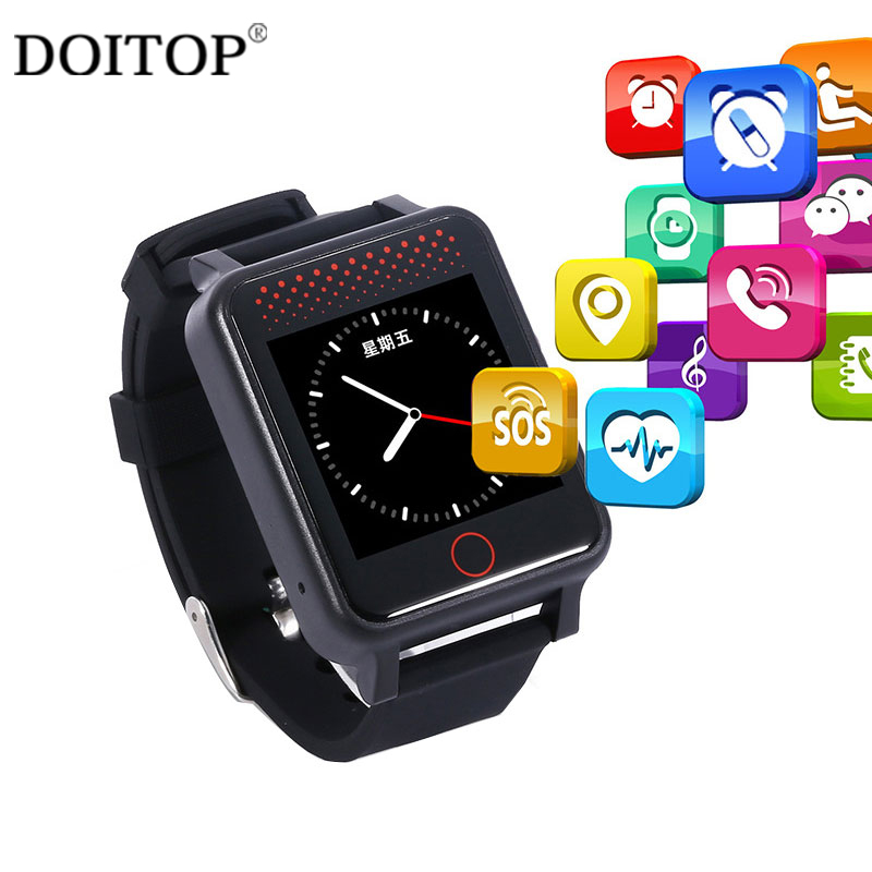 DOITOP Valentine's Day Gifts Smart Watch GPS LBS Tracker for Kids Anti-Lost Real-Time Location Tracker Blood Pressure Monitor C4 a3r elderly kids smart watch blood pressure heart rate monitor tracker sos anti lost gps wifi tracking old men women watches