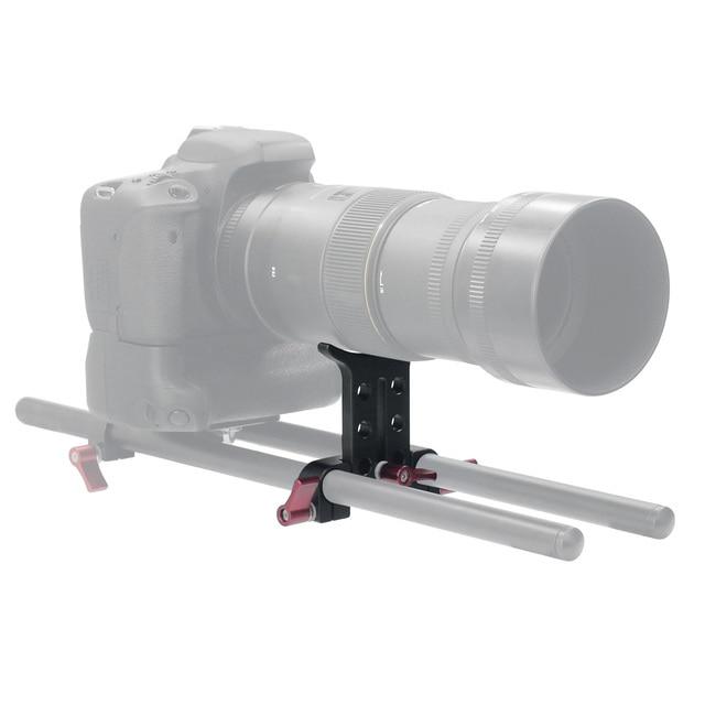 Alliage daluminium 15MM téléobjectif Support Support adaptateur extension Tube Clip pour 5D3 5D2 SLR DSLR caméra accessoire photographie