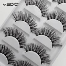 YSDO 1 box new arrivals 3D mink eyelashes natural long lashes 5 pairs  false hand made makeup 15mm G602Y