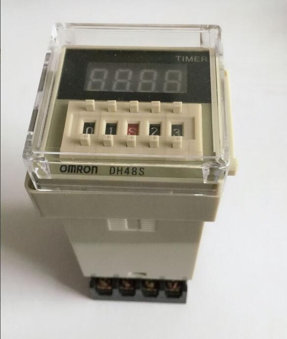 Digital display time relay DH48S DH48S-2Z electric delay timery 0.01S-99H99M 8PIN with base dh48s 2z dh48s 0 01s 99h99m ac dc 12v 24v digital programmable time relay switch timer on delay 8 pins spdt 2 groups contacts