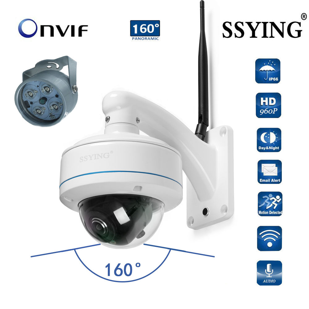 HD IP WIFI panoramic camera 360 degree outdoor camera Onvif Two way Audio wide angle WIFI