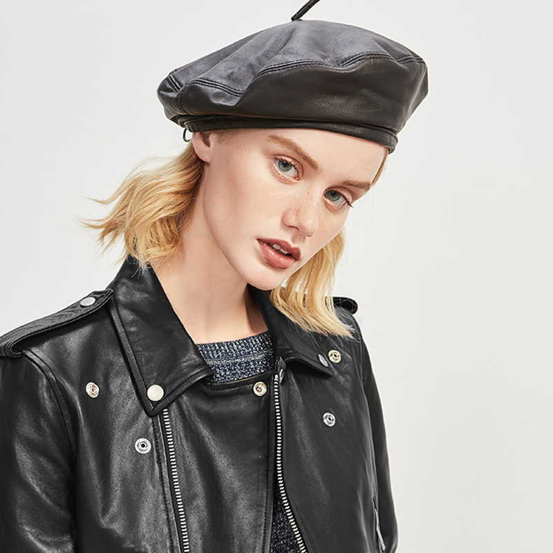 Leather Beret Womens Beret Hat Winter French Beret Female Beret Cap Painter  Hat Fashion Hats for Women 675057 5a591b0fa43