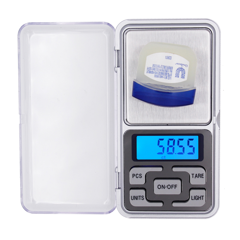 50pcs/lot 0.01g 200g Digital Weighing Pocket Jewelry Weight Scale LCD display with backlight balance With Retail box 20% off
