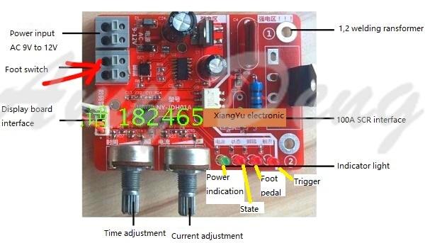 Время точечной сварки и текущий контроллер панель управления синхронизации тока с цифровым дисплеем обновления 40A