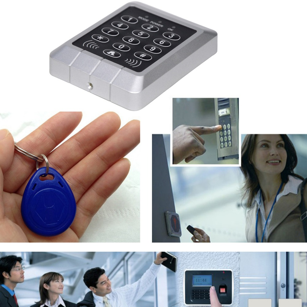 RFID Security Reader Entry Door Lock keypad Access Control System 1000 cards Capacity with 10 Pcs Keys diysecur magnetic lock door lock 125khz rfid password keypad access control system security kit for home office