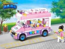 213pcs ABS Mobile Truck Building Blocks City Series Garbage Ice Cream Car Assembling Bricks DIY Brand Toys Kids Birthday Gifts