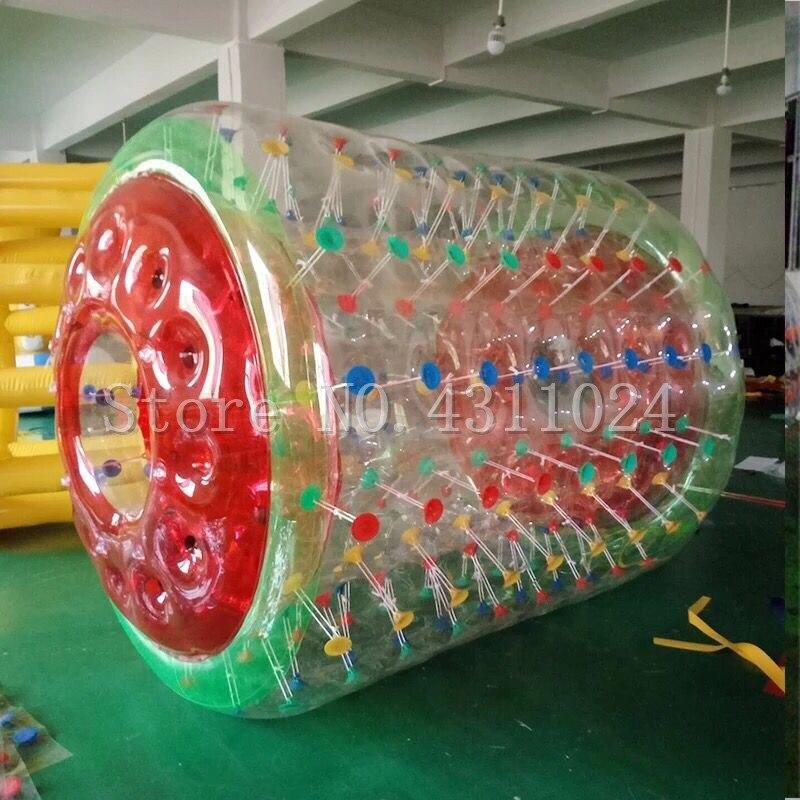 Livraison Gratuite 2.4x2.2 m Gonflable Roue À Eau Piscine Gonflable Rouleau de L'eau, Rouleau de L'eau Balle, gonflable Boules D'eau Livraison une Pompe