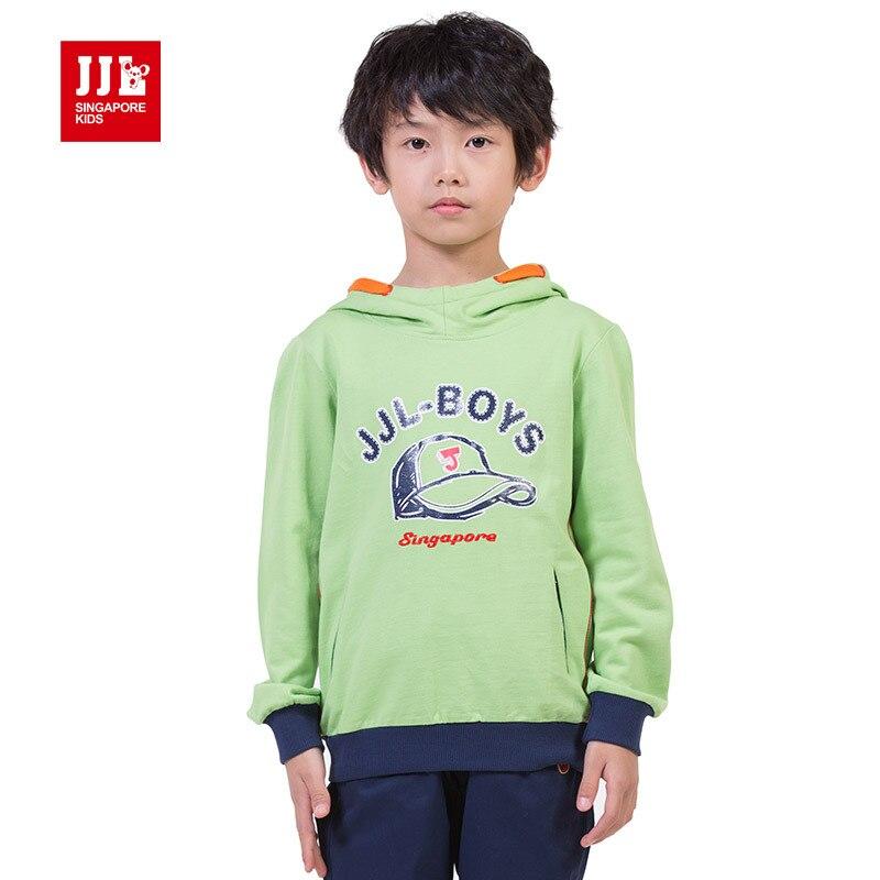 ФОТО boys sweatshirt kids hoodie shirts boys clothing letter print kids shirt with hood children clothing 2015 new arrival
