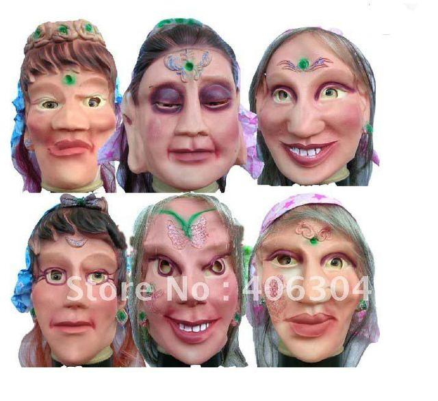 Free Shipping ,MOQ:10pcs ,halloween mask(0.11kgs/pc)/beatiful girl horror mask,hole head