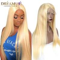 Бразильский Прямо 613 полный шнурок натуральные волосы парик Реми блондинка парики, кружева детские волосы Pre сорвал Хеалаин 180 плотность Dream