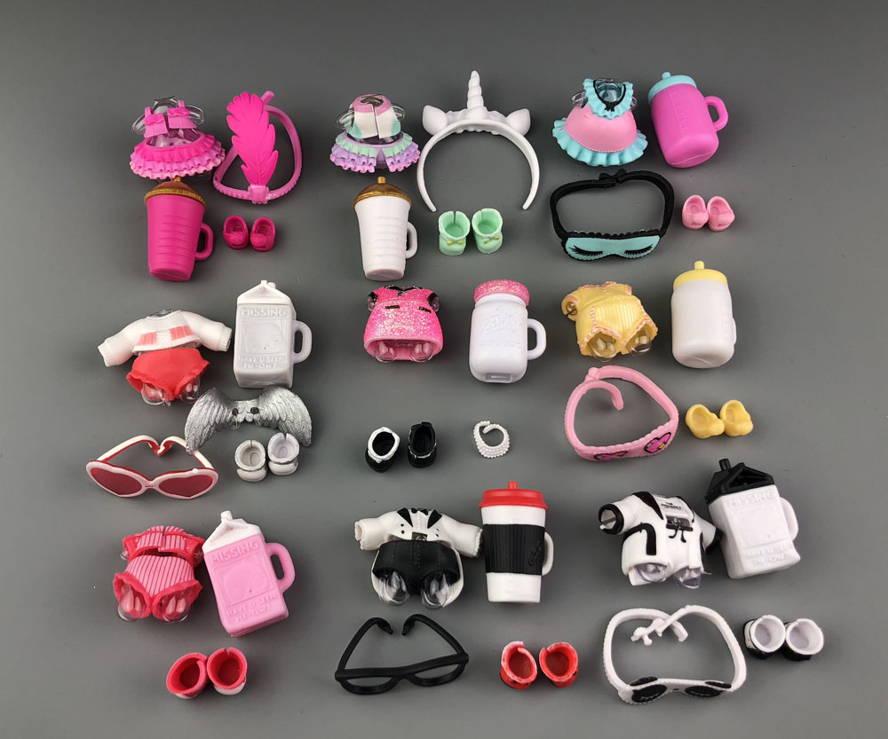 A set of original <font><b>LOL</b></font> <font><b>doll</b></font> clothes, glasses, bottles, shoes accessories for <font><b>LOL</b></font> accessories hot sale image