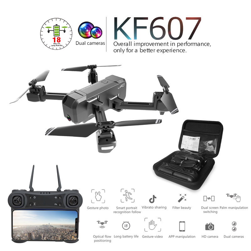 Newest 607 Quadcopter with Wifi FPV 4K/1080P HD Dual Camera Optical Flow Selfie Drone Foldable Mini Dron VS SG106 visuo xs816Newest 607 Quadcopter with Wifi FPV 4K/1080P HD Dual Camera Optical Flow Selfie Drone Foldable Mini Dron VS SG106 visuo xs816