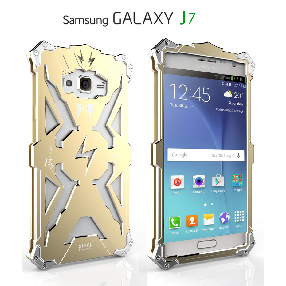 High Quality Smartphone Cases Protective Shell Back Cover Shockproof Aluminum Metal Mobile Phone Case For Samsung Galaxy J7