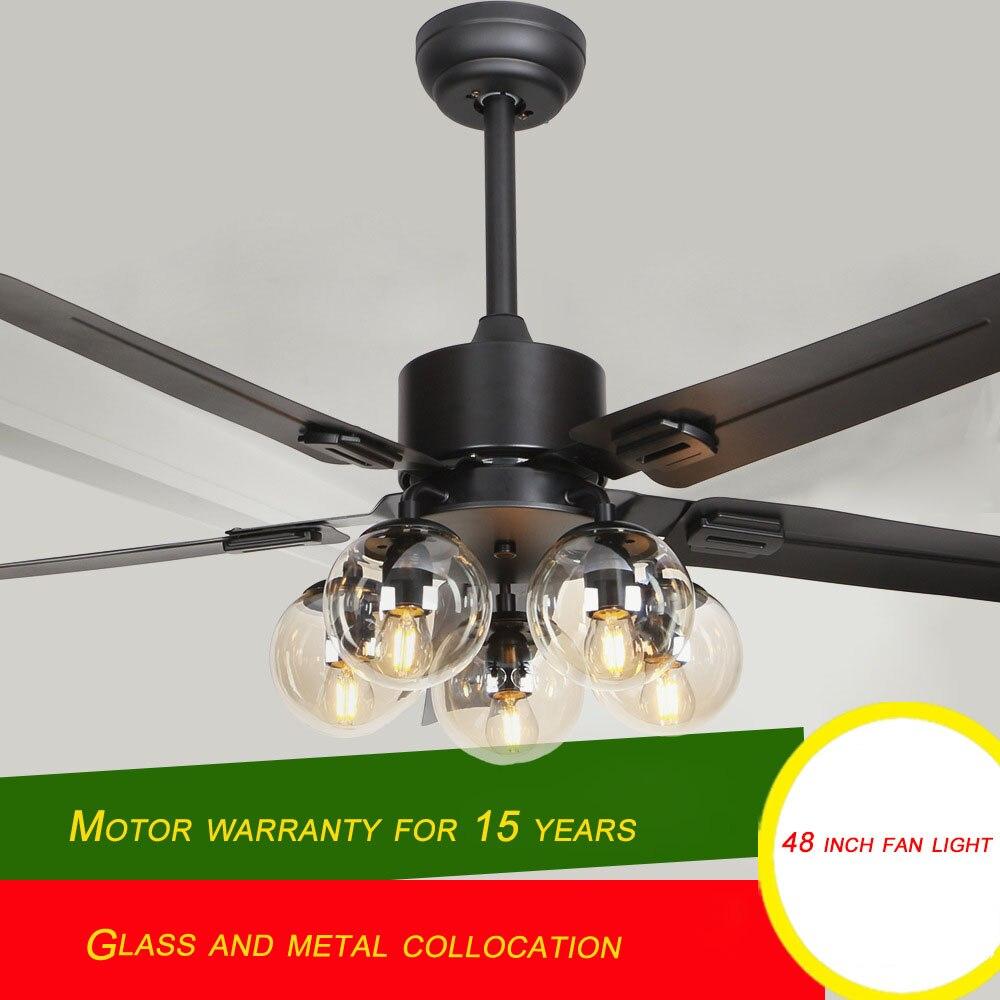 Nordic forest wind Restaurant fan light modern minimalist 48 inch living room with ceiling fan fan light