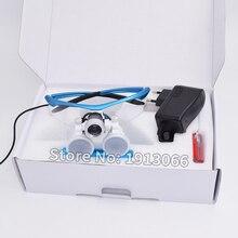 באיכות גבוהה קידום 3.5X420mm משקפת שיניים זכוכית מגדלת שיניים זכוכית מגדלת אופטית זכוכית LED נייד ראש אור מנורת עבור שיניים