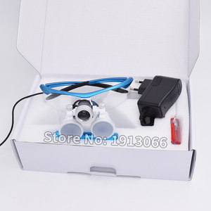 Image 1 - באיכות גבוהה קידום 3.5X420mm משקפת שיניים זכוכית מגדלת שיניים זכוכית מגדלת אופטית זכוכית LED נייד ראש אור מנורת עבור שיניים