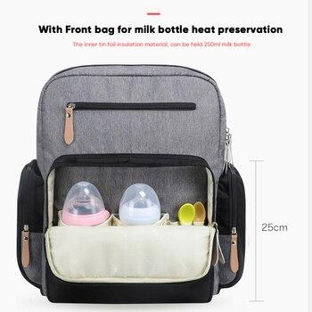 Bolsa De Pañales De Gran Capacidad Land, Mochila De Viaje A La Moda Para Mamá Y Papá, Bolsas De Momia Sólidas, Bolsa Organizadora Para El Cuidado Del Bebé