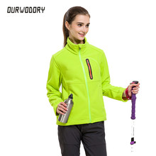 New Fashion women's thermal fleece jacket women outdoors autumn winter Windbreaker coats female warm Softshell jacket windproof(China)