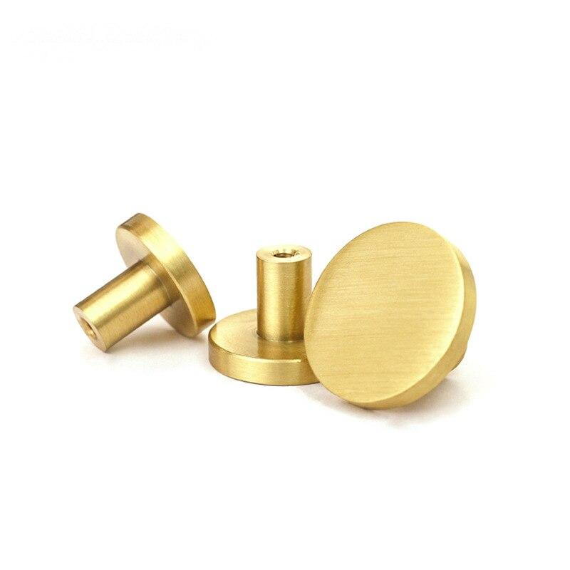 Круглые латунные ящик для буфета ручки Золото шкаф для мебели ручки дверные для шкафа Pulls-1Pack