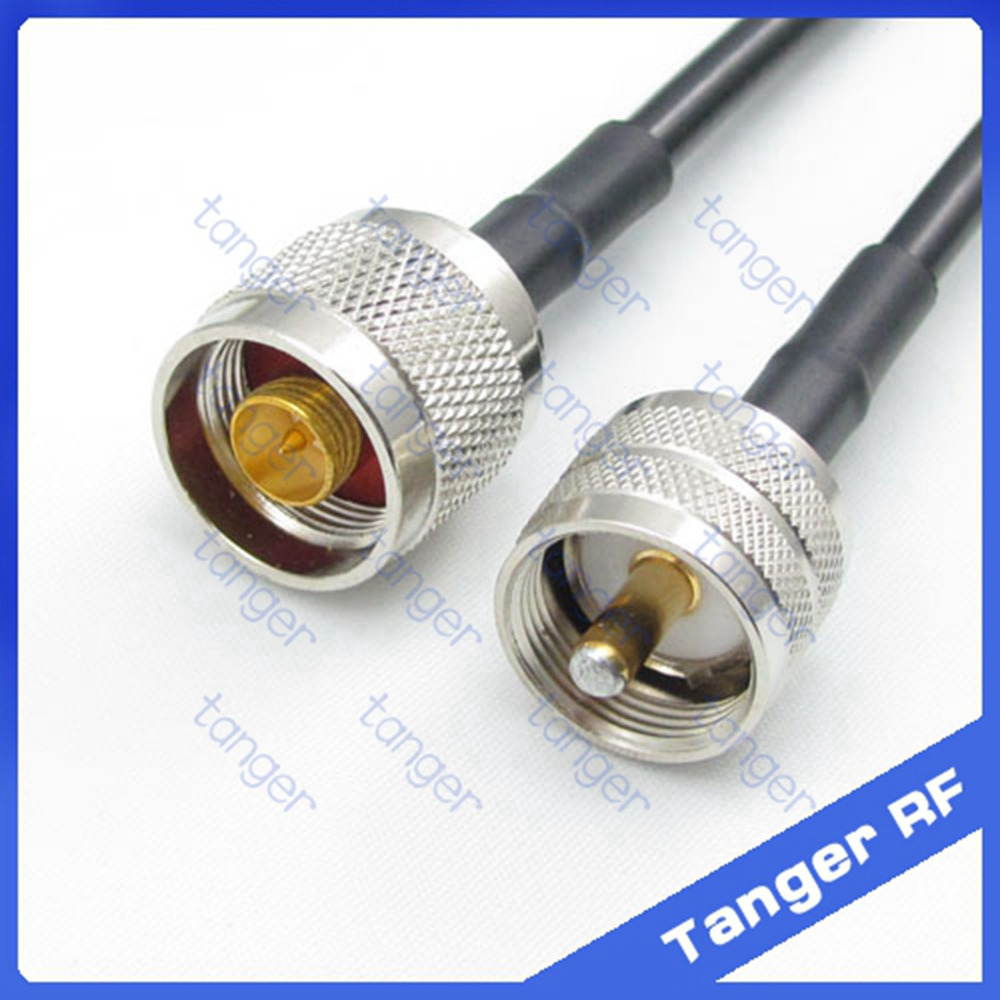 Hot sale Tanger UHF male plug PL259 SL16 to N male plug straight RF RG58 Pigtail Jumper Coaxial Cable 20inch 50cm High Quality tanger hot selling f male plug to n male plug connector straight rf rg58 pigtail jumper coaxial cable 20inch 50cm high quality