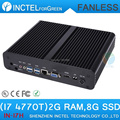 H87 Fanless Incorporado Mini Ethernet PC com Processador Intel Quad Core i7 4770 T 2.5 Ghz HDMI VGA