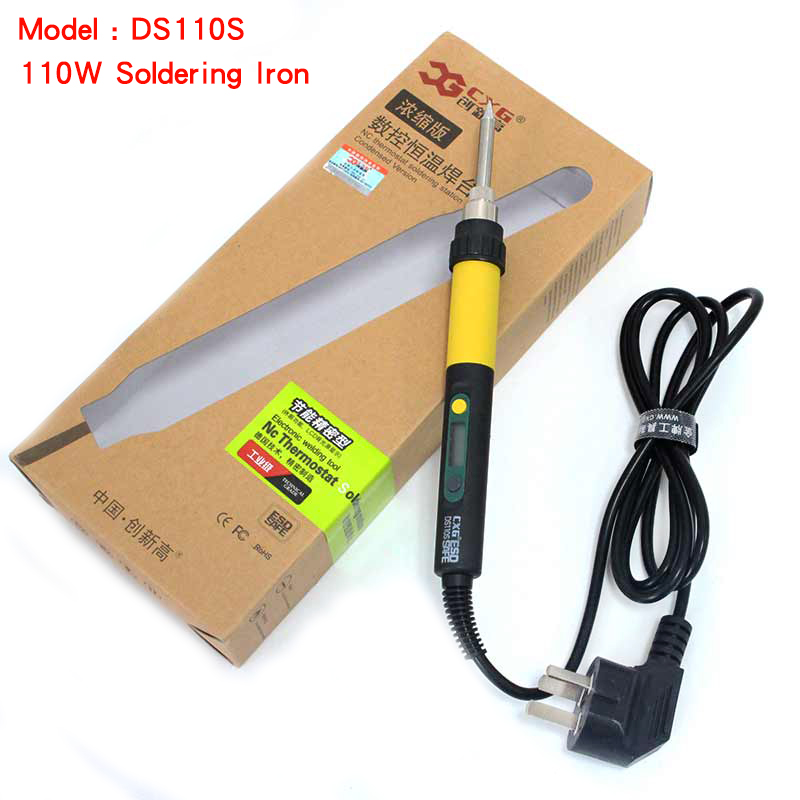 High quality DS110S Electric Soldering Iron,110W 220V LCD Display Adjustable Temperature Precision Welding Iron