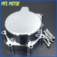 Motorcycle Left side Engine Stator cover For Yamaha YZF R6 YZF R6 1999 2000 2001 2002 Chrome