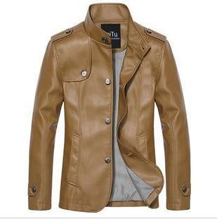 Hot selling jacket is man big size military jacket breasted warm coat free shipping 2013 fashion thin leather jackets men FLM100