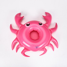 цена на 1pcs Pink Crab Drink Holder Float Toy Swimming Pool Rafts Inflatable Floating Summer Beach Party Kids Phone cup Holders