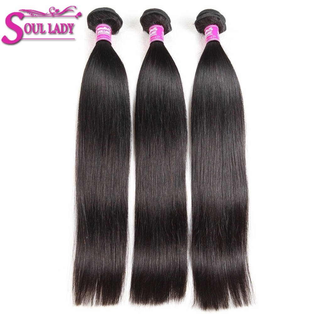 Bundles Hair Hair-Extenstions Deals Soul Lady 100%Human-Hair-Bundles Straight Brazilian