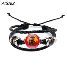 PS4 Game Red Dead Redemption 2 Bracelet Adjustable ID Multi-layer leather rope Bracelets Gift for Man Boy Fashion Bracelet(China)