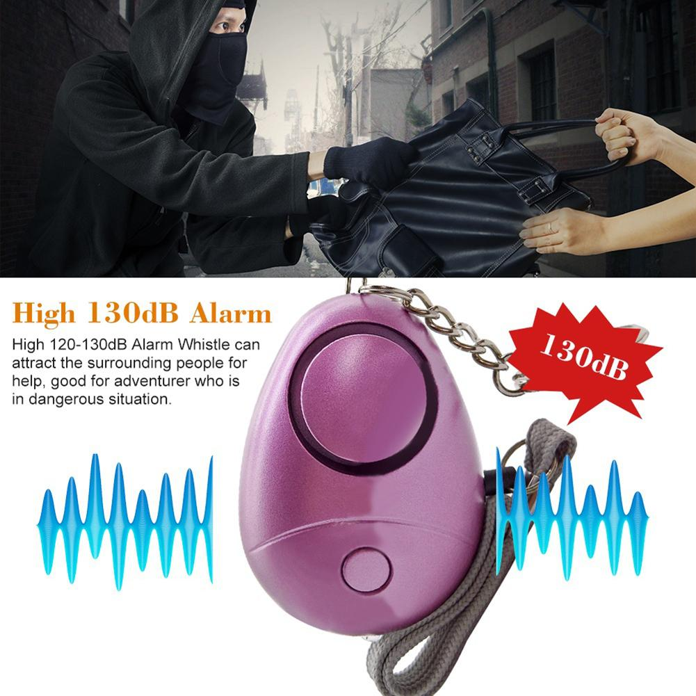 Honest 130db Security New Emergency Alarm Led Light Egg Shape Self Defense Siren Keychain Beautiful And Charming