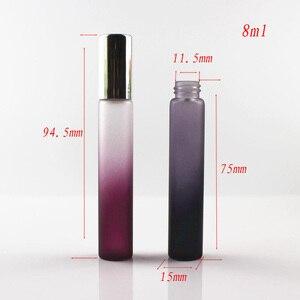 Image 2 - 50 יח\חבילה 10ml רול על בקבוק זכוכית שחור/סגול דק זכוכית רול על בקבוקי 10cc חיוני שמן רולר בשמים מדגם בקבוק