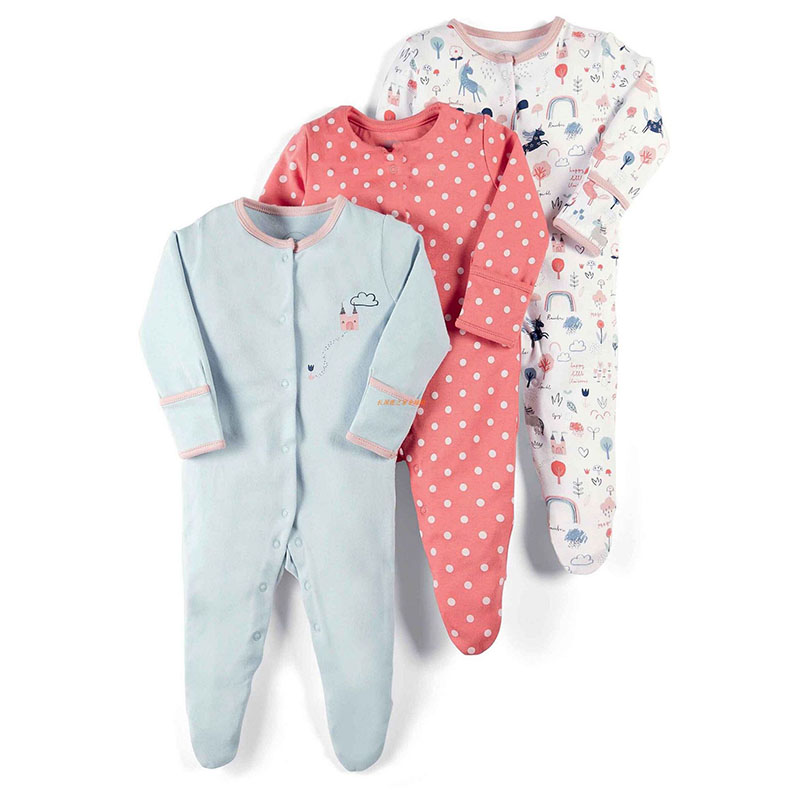 newborn baby cartoon   rompers   infant long sleeve overall animal clothes pink dot clothing 100% cotton girl jumpsuit boy sleepsuit