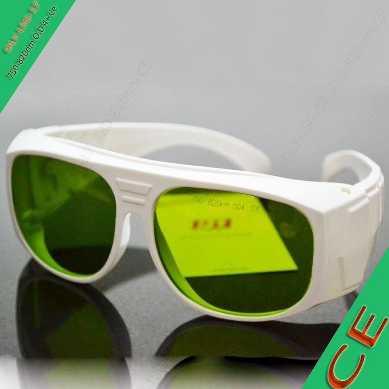 laser safety glasses 750-820nm O.D 4 CE for 755nm, 780nm, 808-810nm lasers, white frame maritime safety