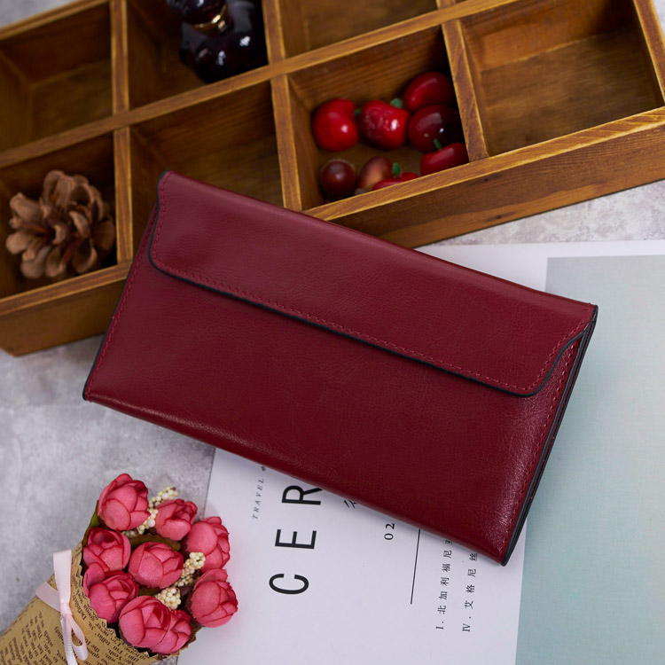 2017 Genuine Leather Wallet Women High Quality Soft Long Purse Clutch Fashion Female Wallets Card Holder aim fashion women s long clutch wallet and purse brand designer vintage leather wallets women bags high quality card holder n801