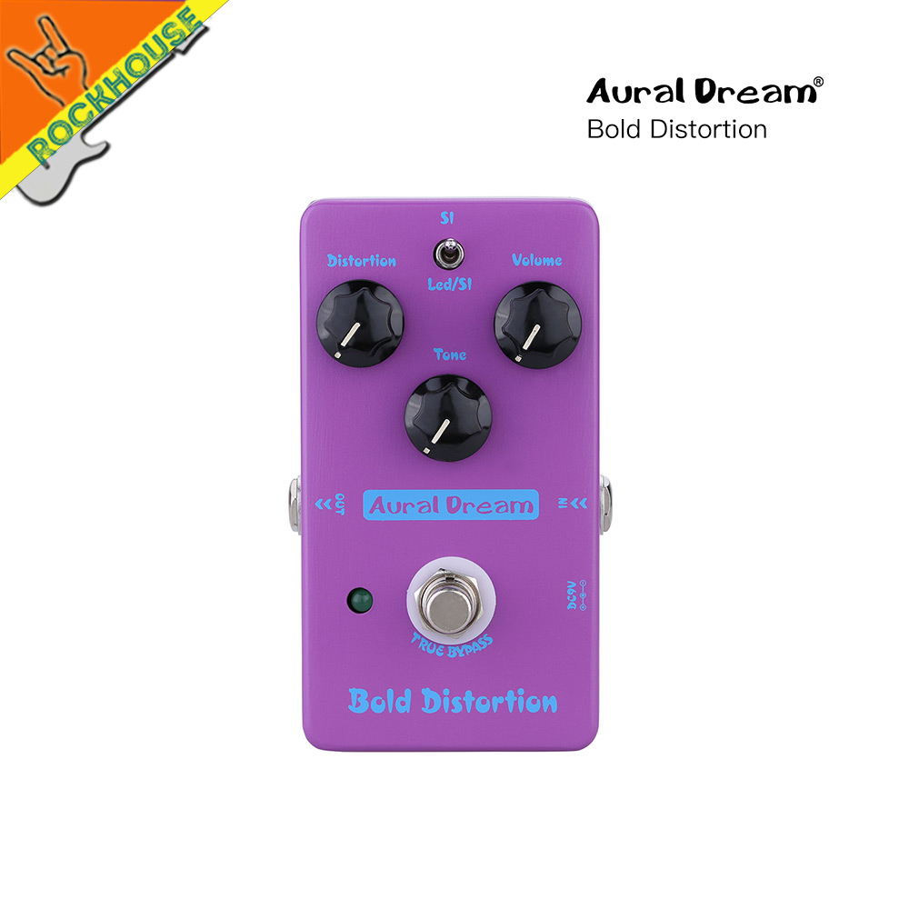 AuralDream Distortion Guitar Effects Pedal Modern Distortion High-Gain Powerful Dynamic American Rock Distortion True Bypass nux hg6 distortion guitar effect pedal modern high gain effects true bypass 3 gain stages