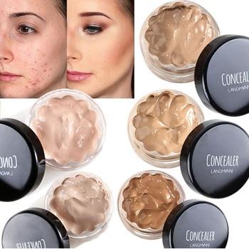 Crema correctora, control de aceite, larga duración, cobertura completa, Base de maquillaje,...