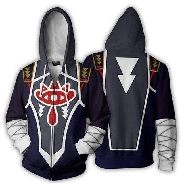 Cosplaydiy Game The Legend of Zelda Cosplay Zipper Hoodies Jacket The Legend of Zelda Midna Casual Hoodies Top Coat L320