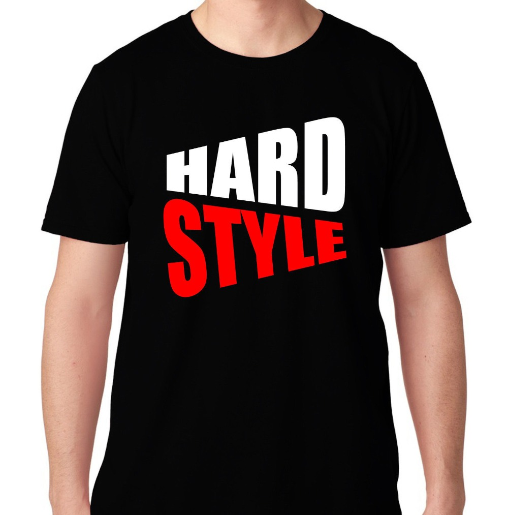 HARD STYLE BASS EDM MUSIC HOUSE ELECTRO DUBSTEP MUSIC DJ RAVE HARDFEST T SHIRT2018 Fashion slim T-shirts T Shirt Men's Tee Shirt image
