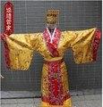 Dinastía tang traje hanfu de los hombres cosplay traje antiguo emperador ropa fotografía etapa ropa fijada con a sombrero envío gratis