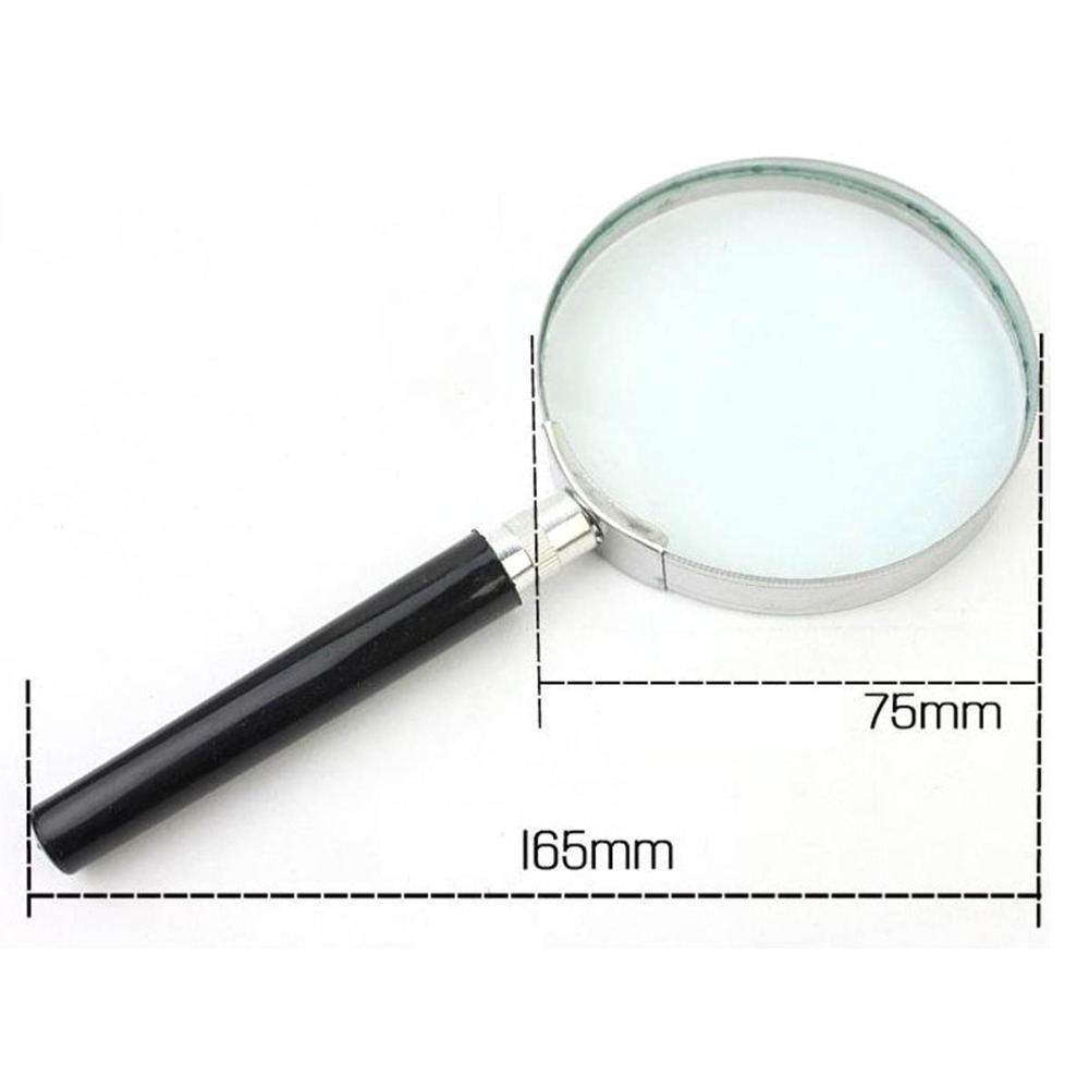 Portable 5X Handheld Handy Magnifier Magnifying Glass Lens Magnification 75mm