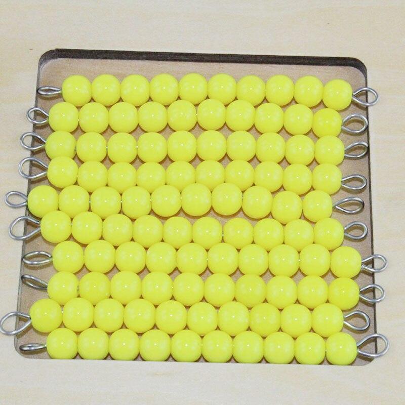 Bébé 3-6 ans Montessori Math jouet suspendus perles titulaire numéro de 1-20 avec perles de couleur aides pédagogiques scolaires - 4