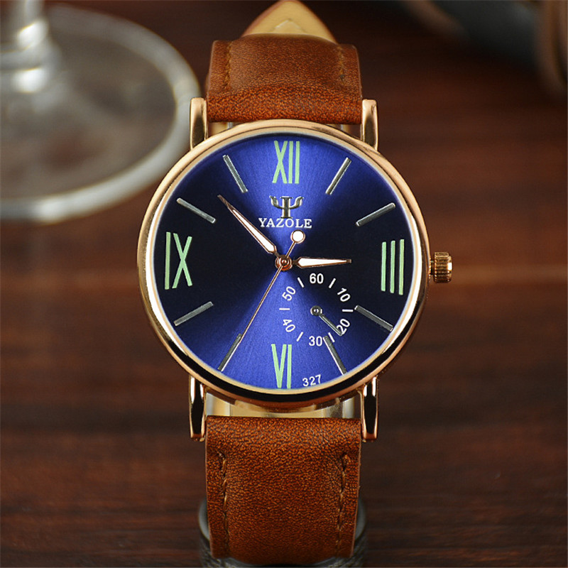 YAZOLE New Watch Men Fashion Leisure Business Luminous PU Leather Quartz watch Male Clock Women Mens Wrist Watches Reloj Hombre yazole watch men 2016 simple big dial fashion business mens watches leather strap quartz wristwatches male clock reloj hombre